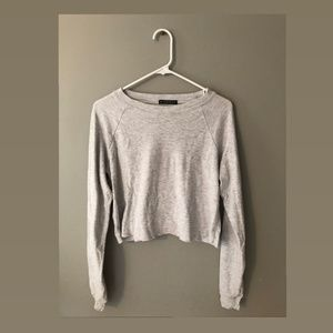 Brandy Melville Grey Long Sleeve Shirt